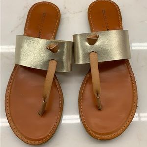 Rock & Candy by Zigi gold and tan sandals - size 8
